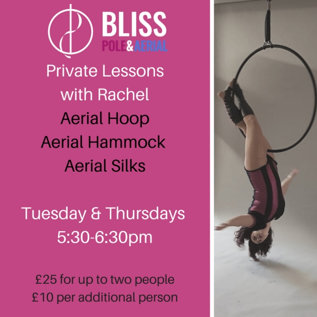 Private Lessons with RachelAvailable in_Aerial HoopAerial Hammock Aerial SilksTuesday & Thursdays 5_30-6_30pm
